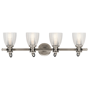 Flagship Classic Pewter 33-Inch Four-Light Bath Light