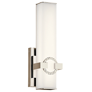 Bordeaux Polished Nickel 5-Inch LED Wall Sconce