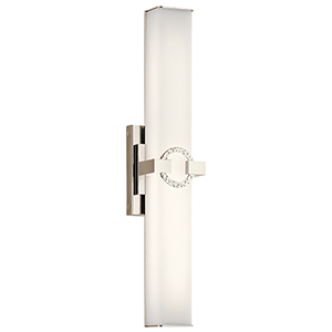 Bordeaux Polished Nickel 22-Inch LED Medium Linear Bath Light