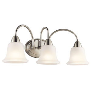 Nicholson Brushed Nickel Three-Light Bath Fixture