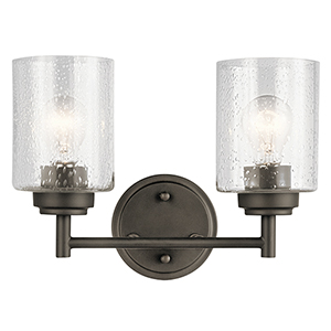 Winslow Olde Bronze 13-Inch Two-Light Bath Light