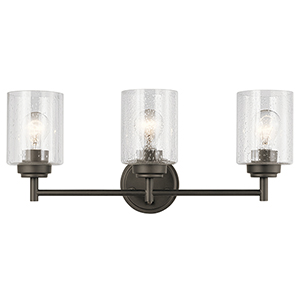 Winslow Olde Bronze 22-Inch Three-Light Bath Light