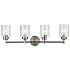 Winslow Brushed Nickel 30-Inch Four-Light Bath Light