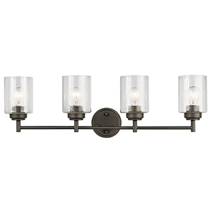 Winslow Olde Bronze 30-Inch Four-Light Bath Light