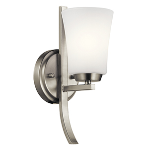 Tao Brushed Nickel 5-Inch One-Light Wall Bracket