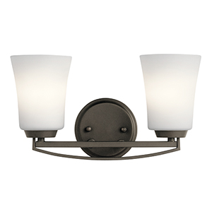 Tao Olde Bronze 15-Inch Two-Light Bath Light