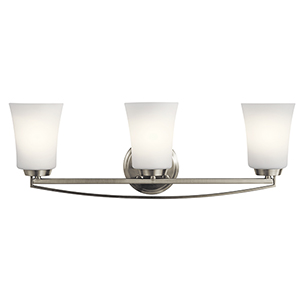 Tao Brushed Nickel 24-Inch Three-Light Bath Light