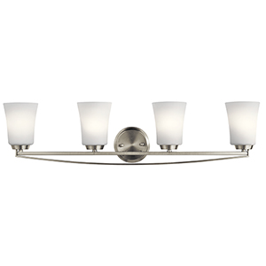 Tao Brushed Nickel 34-Inch Four-Light Bath Light