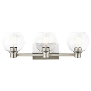Harmony Brushed Nickel 25-Inch Three-Light Bath Light
