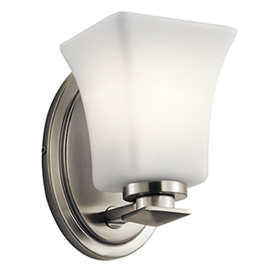 Clare Brushed Nickel 5-Inch One-Light Wall Bracket