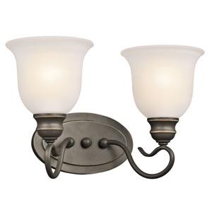 Tanglewood Olde Bronze 15-Inch Energy Star Two-Arm Bath Light