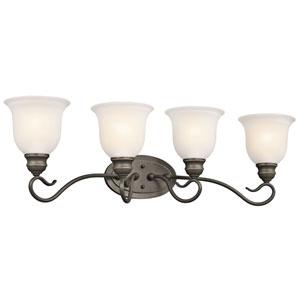 Tanglewood Olde Bronze 31-Inch Energy Star Four-Arm Bath Light