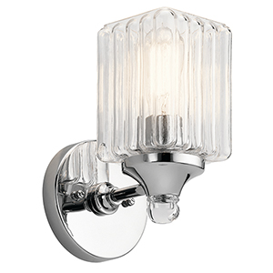 Riviera Chrome 5-Inch One-Light Wall Bracket