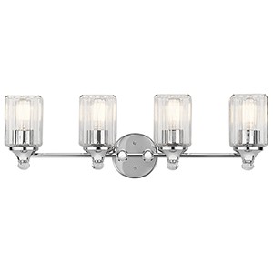 Riviera Chrome 28-Inch Four-Light Bath Light