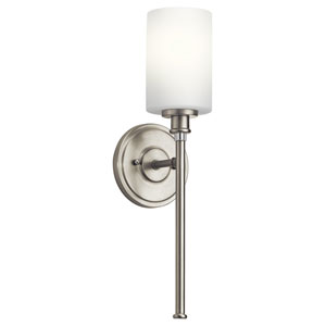 Joelson Brushed Nickel One-Light Bath Sconce