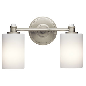 Joelson Brushed Nickel Two-Light Bath Sconce