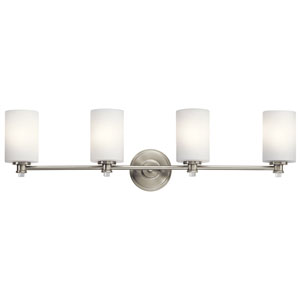 Joelson Brushed Nickel Four-Light Bath Sconce