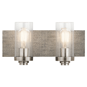 Dalwood Classic Pewter 16-Inch Two-Light Bath Light