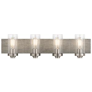 Dalwood Classic Pewter 32-Inch Four-Light Bath Light