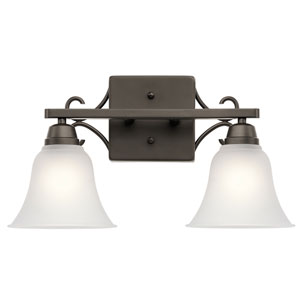 Bixler Olde Bronze LED Two-Light Bath Sconce