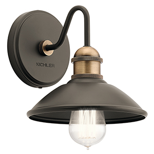 Clyde Olde Bronze 8-Inch One-Light Wall Bracket