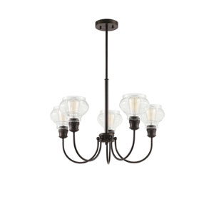Schoolhouse Oil Rubbed Bronze Five-Light Chandelier