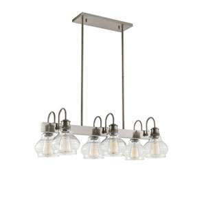 Schoolhouse Classic Pewter Six-Light Pendant