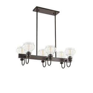 Schoolhouse Oil Rubbed Bronze Six-Light Pendant