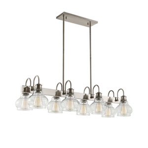 Schoolhouse Classic Pewter Eight-Light Pendant