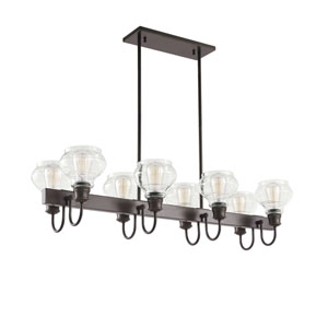Schoolhouse Oil Rubbed Bronze Eight-Light Pendant