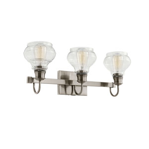 Schoolhouse Classic Pewter Three-Light Bath Light