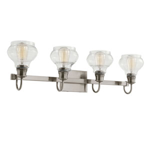 Schoolhouse Classic Pewter Four-Light Bath Light