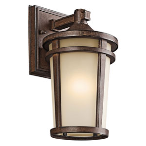 Atwood Brown Stone One-Light 6-Inch Outdoor Wall Mount