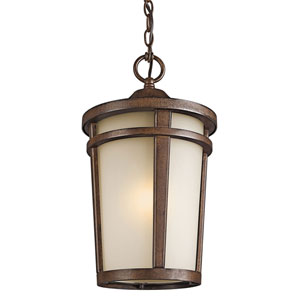 Atwood Brown Stone One-Light Outdoor Pendant