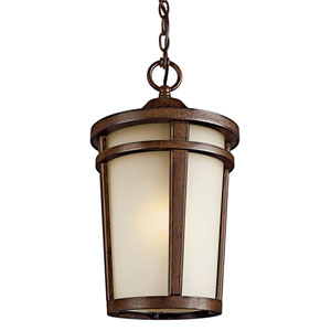 Atwood Brown Stone One-Light Fluorescent Outdoor Pendant