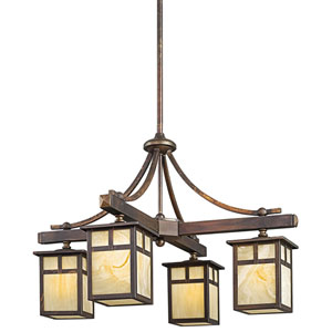 Alameda Canyon View Four-Light Outdoor Chandelier