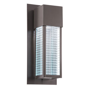 Sorel Architectural Bronze 6.5-Inch 28-Light LED Outdoor Small Wall Sconce