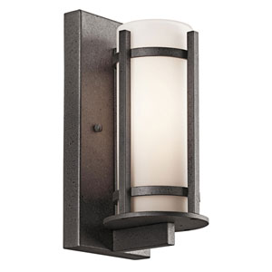 Camden Anvil Iron One-Light 11-Inch Outdoor Wall Mount