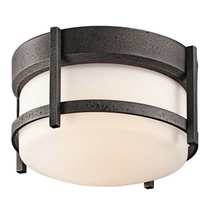 Camden Anvil Iron One-Light Outdoor Flush Mount