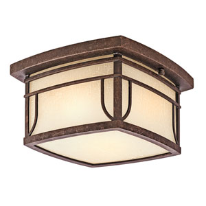 Soria Aged Bronze Two-Light Outdoor Flush Mount