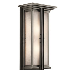 Portman Square Olde Bronze Two-Light Outdoor Wall Mount Pocket Lantern