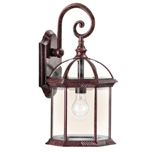 New Street Series 08 Outdoor Tannery Bronze One-Light Outdoor Wall Mount
