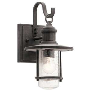 Riverwood Weathered Zinc 7-Inch One-Light Outdoor Wall Light
