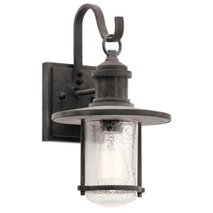 Riverwood Weathered Zinc 8-Inch One-Light Outdoor Wall Light