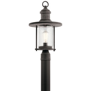 Riverwood Weathered Zinc 11-Inch One-Light Outdoor Post Lantern