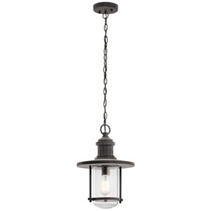 Riverwood Weathered Zinc 11-Inch One-Light Outdoor Hanging Pendant