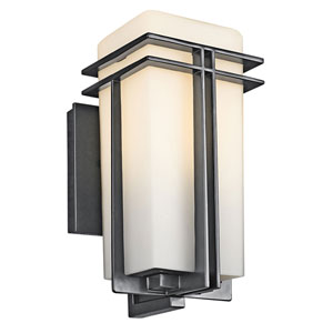 Tremillo Black One-Light 12-Inch Outdoor Wall Mount