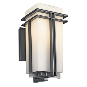 Tremillo Black One-Light 14-Inch Outdoor Wall Mount