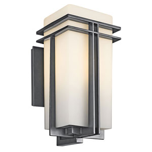Tremillo Black One-Light 17-Inch Outdoor Wall Mount