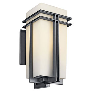 Tremillo Black One-Light Fluorescent 20-Inch Outdoor Wall Mount
